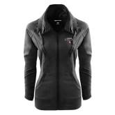 Ladies Sport Wick Stretch Full Zip Black Jacket-Tucson Roadrunners Stacked