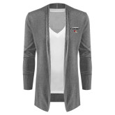 Ladies Heather Grey Open Front Cardigan-Tucson Roadrunners Stacked