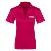 Ladies Pink Raspberry Silk Touch Performance Polo-Tucson Roadrunners