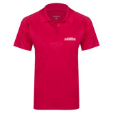 Ladies Pink Raspberry Dry Mesh Pro Polo-Tucson Roadrunners