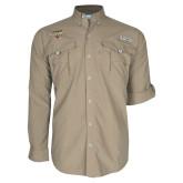 Columbia Bahama II Khaki Long Sleeve Shirt-Tucson Roadrunners Stacked