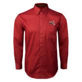 Cardinal Twill Button Down Long Sleeve-Mascot