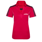 Ladies Raspberry/Charcoal Performance Color Block Polo-Tucson Roadrunners