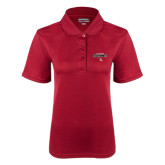 Ladies Cardinal Dry Mesh Polo-Tucson Roadrunners Stacked