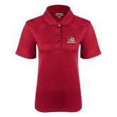 Ladies Cardinal Dry Mesh Polo-Badge Design