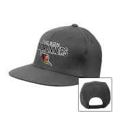 Charcoal Flat Bill Snapback Hat-Tucson Roadrunners Stacked