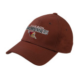 Brown Heavyweight Twill Pro Style Hat-Tucson Roadrunners Stacked