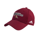 Adidas Cardinal Structured Adjustable Hat-Tucson Roadrunners Stacked