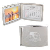 Silver Bifold Frame w/Calendar-Badge Design Engraved