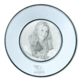 Silver Two Tone Big Round Photo Frame-Badge Design Engraved