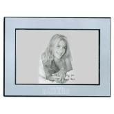 Silver Two Tone 5 x 7 Horizontal Photo Frame-Tucson Roadrunners Engraved