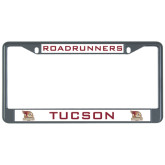 Metal License Plate Frame in Black-Tucson Roadrunners