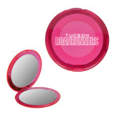 Pink Round Compact With 2x Magnifier Mirror-Tucson Roadrunners