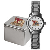 Mens Stainless Steel Fashion Watch-Badge Design