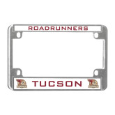 Metal Motorcycle License Plate Frame in Chrome-Tucson Roadrunners