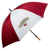 62 Inch Cardinal/White Umbrella-Tucson Roadrunners Stacked