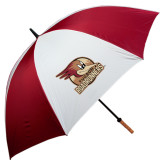 62 Inch Cardinal/White Umbrella-Badge Design