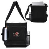 Impact Vertical Black Computer Messenger Bag-Mascot