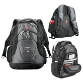 Wenger Swiss Army Tech Charcoal Compu Backpack-Tucson Roadrunners Stacked