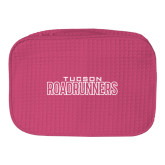 Large Hot Pink Waffle Cosmetic Bag-Tucson Roadrunners