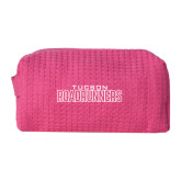 Small Hot Pink Waffle Cosmetic Bag-Tucson Roadrunners