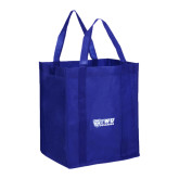 Non Woven Royal Grocery Tote-TWU Bulldogs Stacked w/ Bulldog