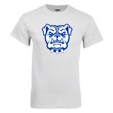 White T Shirt-Bulldog Head