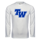 Performance White Longsleeve Shirt-TW