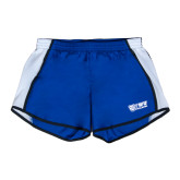 Ladies Royal/White Team Short-TWU Bulldogs Stacked w/ Bulldog
