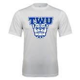 Performance White Tee-TWU w/ Bulldog Head