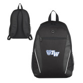 Atlas Black Computer Backpack-Official Logo
