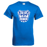 Royal Blue T Shirt-Bulldog Head