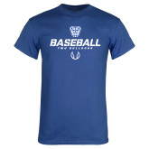 Royal Blue T Shirt-Baseball Stencil w/ Ball