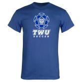 Royal T Shirt-TWU Soccer w/ Geometric Ball