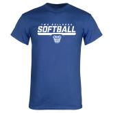 Royal T Shirt-TWU Bulldogs Softball Stencil