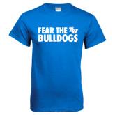 Royal Blue T Shirt-Fear The Bulldogs