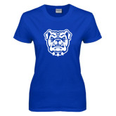 Ladies Royal T Shirt-Bulldog Head