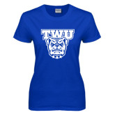 Ladies Royal T Shirt-TWU w/ Bulldog Head