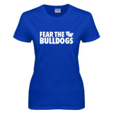 Ladies Royal T Shirt-Fear The Bulldogs