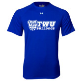 Under Armour Royal Tech Tee-TWU Bulldogs Stacked w/ Bulldog