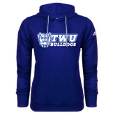 Adidas Climawarm Royal Team Issue Hoodie-TWU Bulldogs Stacked w/ Bulldog