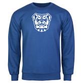 Royal Fleece Crew-Bulldog Head