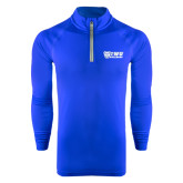 Under Armour Royal Tech 1/4 Zip Performance Shirt-TWU Bulldogs Stacked w/ Bulldog