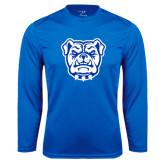 Syntrel Performance Royal Longsleeve Shirt-Bulldog Head