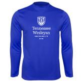 Performance Royal Longsleeve Shirt-University Logo Stacked