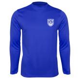 Performance Royal Longsleeve Shirt-University Crest