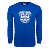 Royal Long Sleeve T Shirt-Bulldog Head