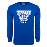 Royal Long Sleeve T Shirt-TWU w/ Bulldog Head