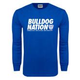 Royal Long Sleeve T Shirt-Bulldog Nation