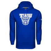 Under Armour Royal Performance Sweats Team Hoodie-TWU w/ Bulldog Head